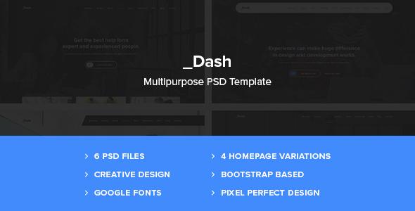 Dash – Creative Agency, Portfolio OnePage Template