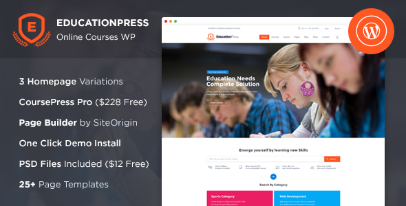 EducationPress – Education WordPress Theme