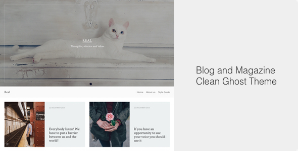 Real – Blog and Magazine Clean Ghost Theme