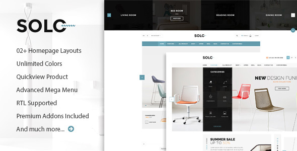 Solo – Prestashop Furniture/Interior Store Theme