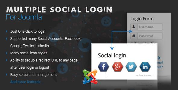 Multiple Social Login For Joomla - CodeCanyon Item for Sale