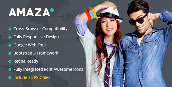 Amaza – Fashion Store HTML Template