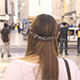 Woman Walking in the Streets of Lisbon - VideoHive Item for Sale