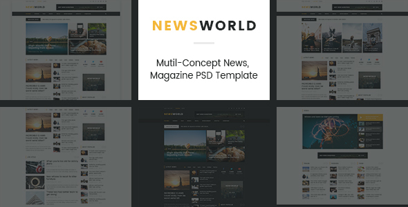 News World | News Magazine PSD Template - Corporate PSD Templates