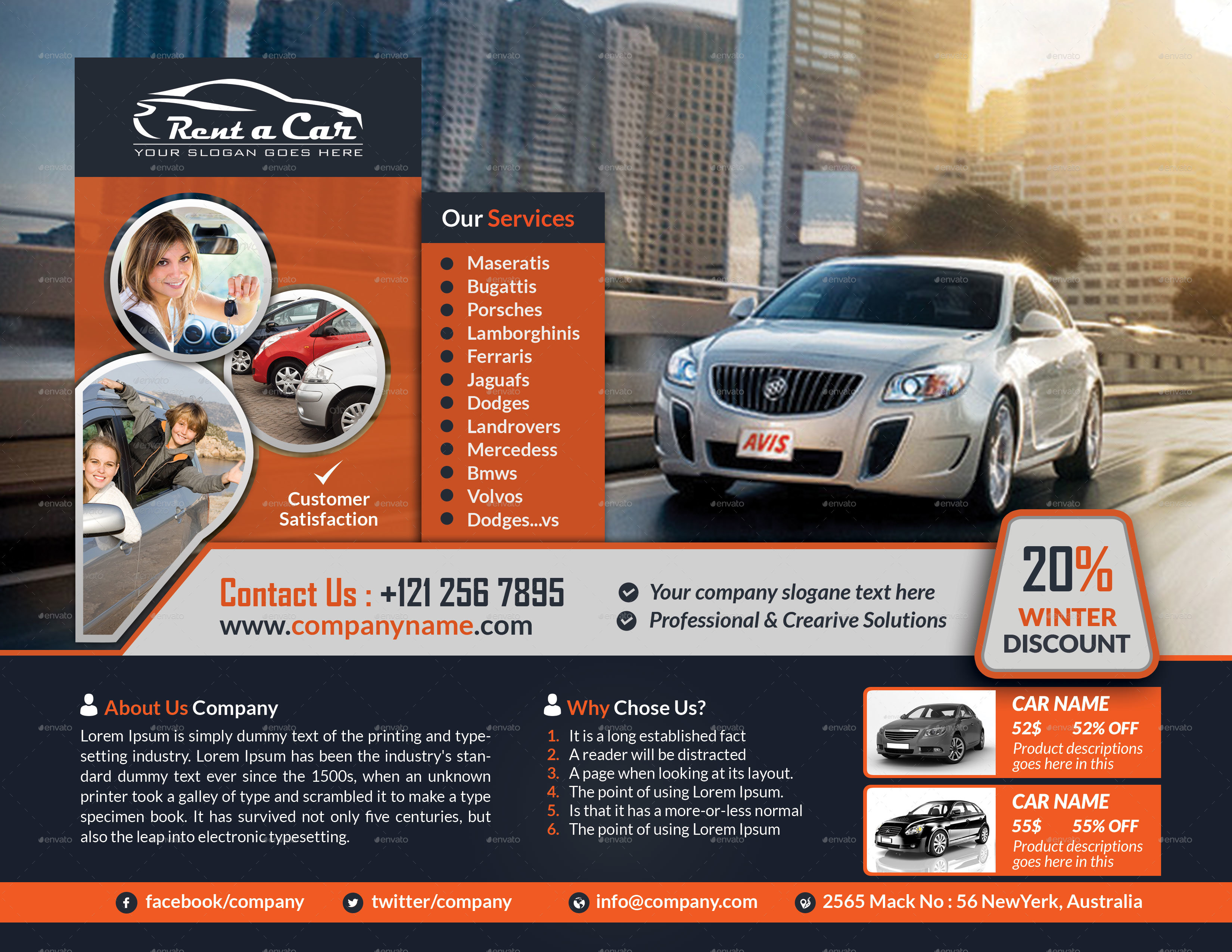 Delightful Rent A Car Flyer  Car Flyer Template