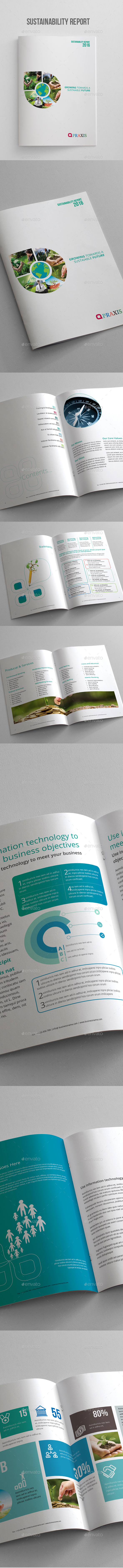 Sustainability Report Brochure - Corporate Business Cards