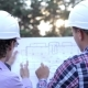 Two Structural Engineer Planning The Construction Of a Monolithic Buildings - VideoHive Item for Sale