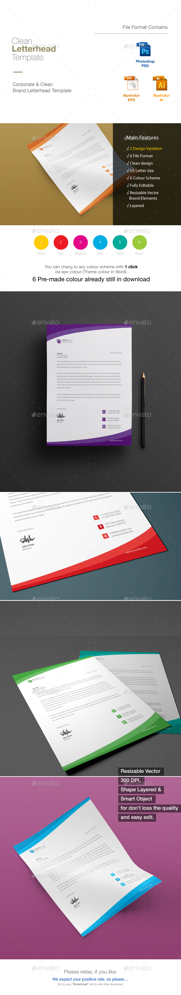 Letterhead by dreamlab bd graphicriver letterhead stationery print templates spiritdancerdesigns Images
