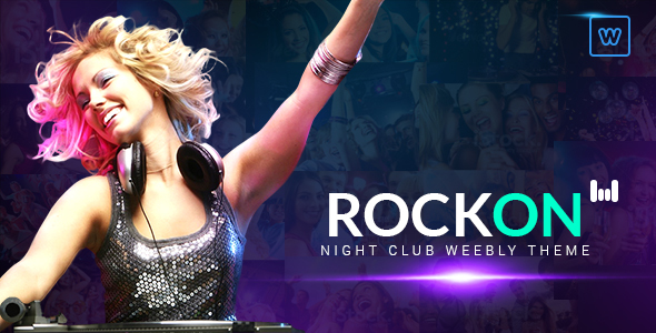 Download Rockon - Night Club Weebly Theme nulled version