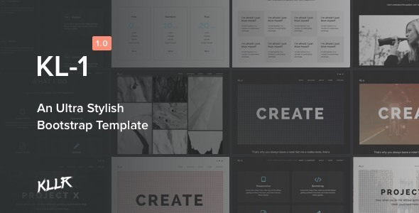 Kl-1 – An Ultra Stylish Bootstrap Template