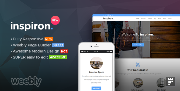Download inspiron - Multipurpose Weebly Template nulled version