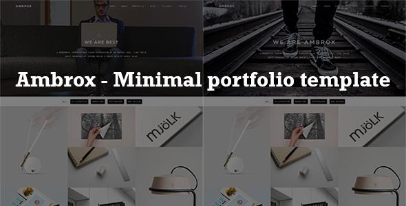 Ambrox – Minimal Portfolio Template