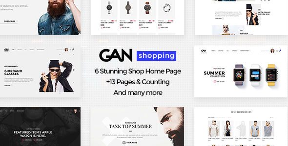 GAN – Shopping PSD Template