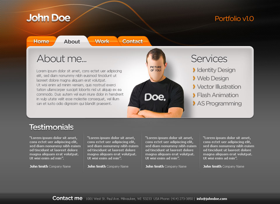 web developer portfolio template