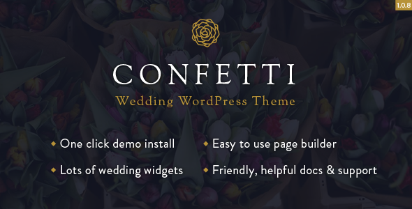 Confetti – Responsive Wedding WordPress Theme