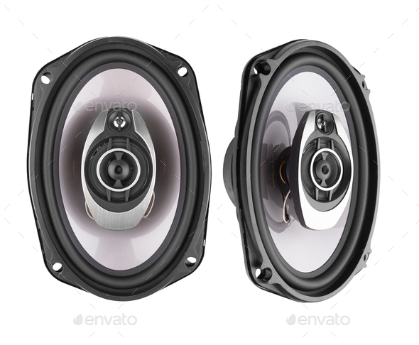 Coaxial car speakers - Stock Photo - Images