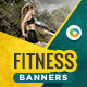 HTML5 Health & Fitness Banners - GWD - 7 Sizes(NF-CC-137) - CodeCanyon Item for Sale