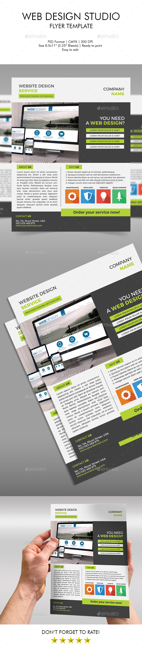 Web Design Studio Flyer Template - Corporate Flyers