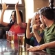 Friends With Beer Watching Football At Bar Or Pub 24 - VideoHive Item for Sale