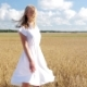 Smiling Young Woman In White Dress On Cereal Field 14 - VideoHive Item for Sale
