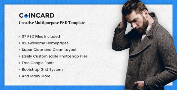 CoinCard – Creative Multipurpose PSD Template