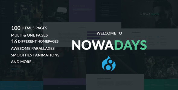 NowaDays – Multipurpose One/Multipage Creative Agency Drupal 8 Theme