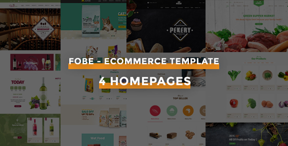 Fobe – Multipurpose eCommerce Template - Shopping Retail