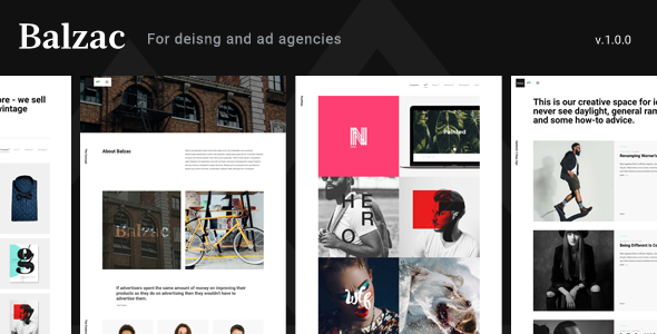 Balzac – An Ultra Creative HTML5 Template for Agencies