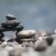 Pebble Tower Against Blue Sea - VideoHive Item for Sale