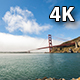 The Golden Gate Bridge With Fog Wide - VideoHive Item for Sale