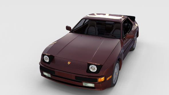 Porsche 944S w interior rev - 3DOcean Item for Sale