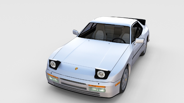 Porsche 944 S2 with interior rev - 3DOcean Item for Sale