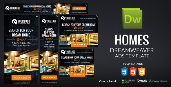 Homes Dreamweaver Ads Template - CodeCanyon Item for Sale