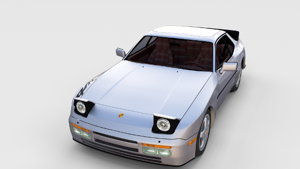 Porsche 944 Turbo S with interior rev - 3DOcean Item for Sale