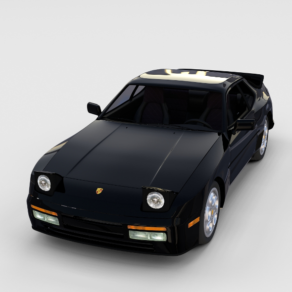 Porsche 944 turbo with interior rev - 3DOcean Item for Sale