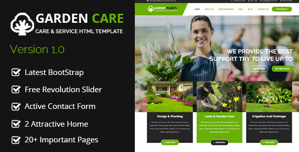 Garden Plants – Gardening and Landscaping HTML Template