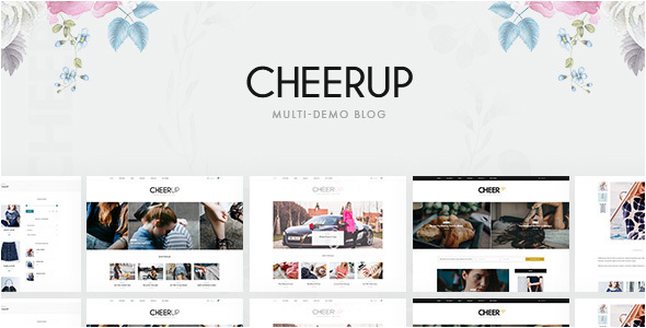 CheerUp – Multi-demo WordPress Blog Theme