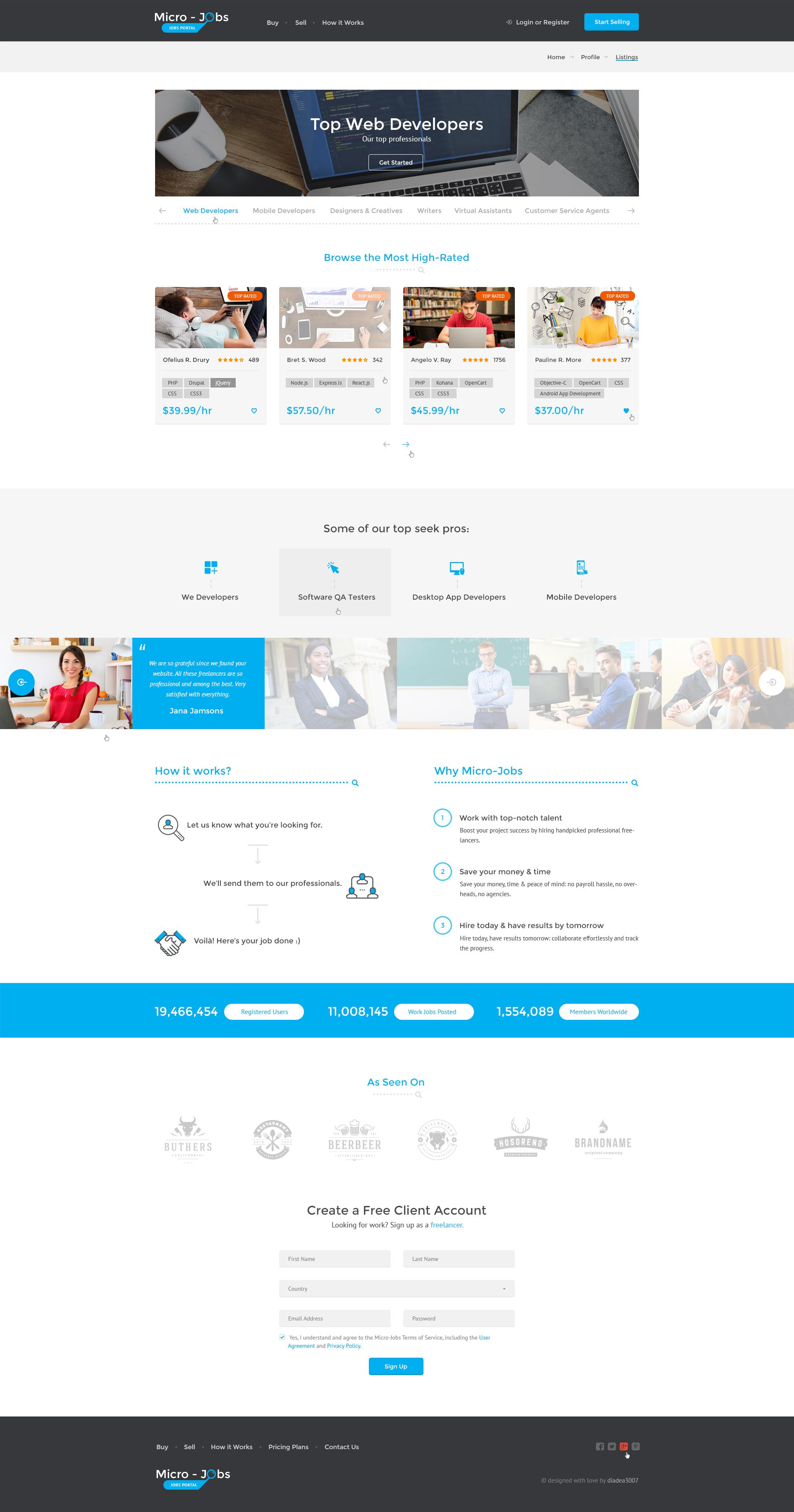 Micro Jobs - Jobs Portal PSD Template by diadea3007   ThemeForest