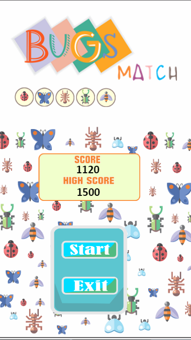 Bugs Match - HTML5 Puzzle Game