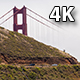 Top of Golden Gate Bridge With Fog and Tourists - VideoHive Item for Sale