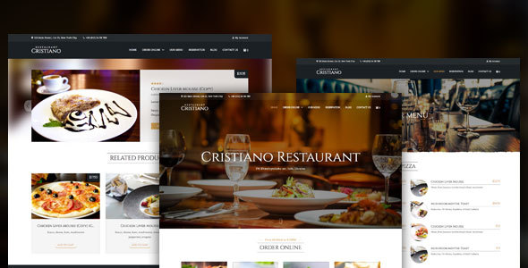 Cristiano Restaurant – Cafe & Restaurant WordPress WooCommerce Theme