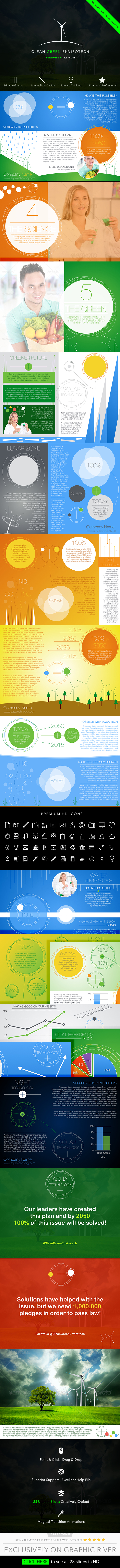 Clean Green Envirotech Keynote Presentation - Business Keynote Templates