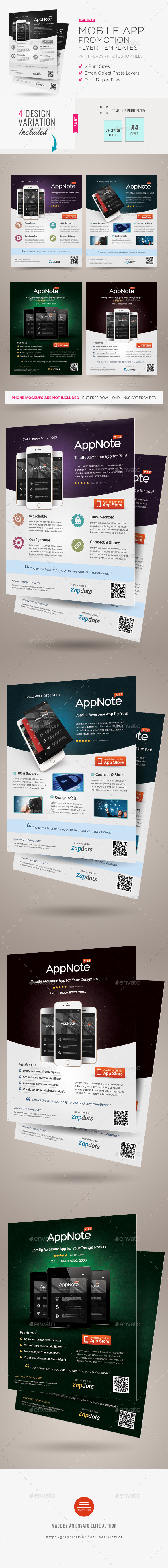 Mobile App Promotion Flyers - Commerce Flyers