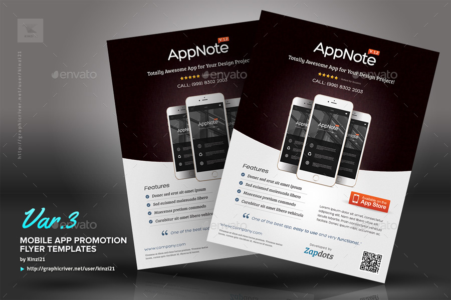 Mobile App Promotion Flyers By Kinzi21 GraphicRiver