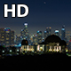 Downtown Los Angeles Skyline and Griffith Observatory Night - VideoHive Item for Sale