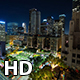 Pershing Square Downtown Los Angeles at Night Wide - VideoHive Item for Sale