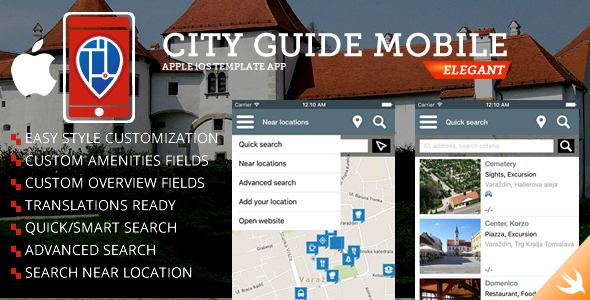 City Guide iOS iPhone App - CodeCanyon Item for Sale