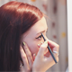 Woman Does Makeup on Eyebrows - VideoHive Item for Sale