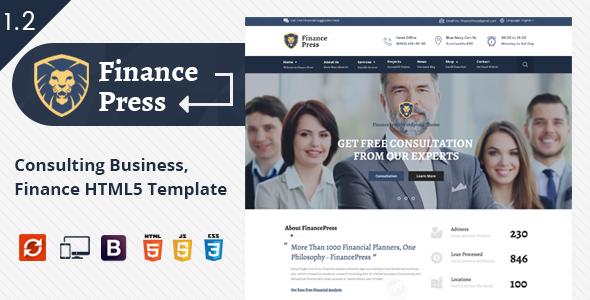 Super Finance Press - Business HTML5 Template