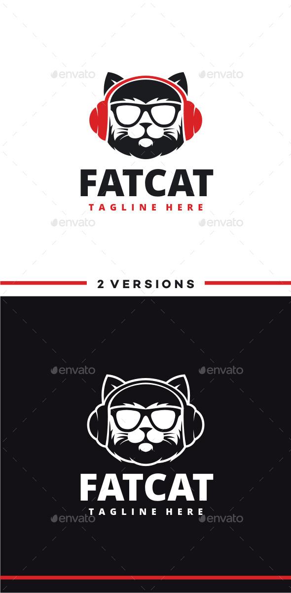 DJ Cat Logo - Animals Logo Templates